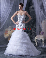 Cheap Model Pictures awesome wedding dress Best Sweetheart Tulle organza wedding dress