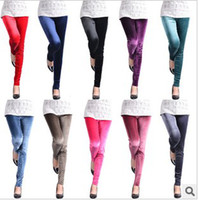 Women basic leggings - 2013 New arrival Pleuche Pencil render pants legging for female colors mixed