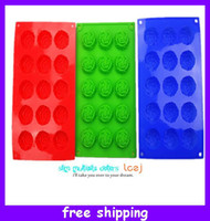 Wholesale Food Grade Silicone Cake Mold Chocolate Mould Muffin Cupcake Pan Rose Mold Jelly Cupcake Candy Mold