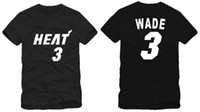 Wholesale HEAT NO Wade Basketball clothes sports short sleeve t shirts Color cotton