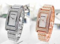 Wholesale Luxury Woman s Watch Women Bling Pave Diamond Crystal Ladys Gold Dive Watches Ladies Eyki Wristwatch