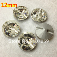 Wholesale 12mm Rivoli Cross Sew On Stone With One Hole Crystal Clear Color Pointback silver base Sewing Crystal