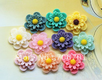 Wholesale supernova sales mm Colors Resin Flower Cabochon Flat back DIY Accessorie L