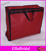 Wholesale High Quality Folding Portable Wedding Dresses Cover Bag Bridal Garment Bags Burgundy