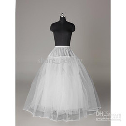 Wholesale New A line Stock White solid muslin Petticoat For Bridal Ball Gowns Court Wedding Dresses Prom Dress