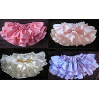 Wholesale Baby Ruffled Bloomer with BOW Infant Girl Skirt with Diaper Cover Baby PP Pants Baby Clothing Summer