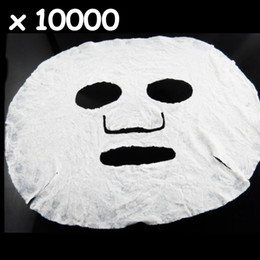 Wholesale 2013 Hottest DIY Non woven Natural Cellulose Fiber Facial Face Care Skin Compressed Paper Mask Masqu