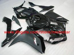 flat black white moto fairing for YAMAHA 2007 2008 YZF-R1 07 08 YZFR1 YZF R1 fairings kit R17J