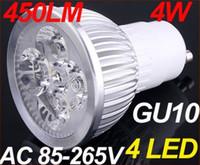 Wholesale 5PCS High power CREE led bulb W x1W GU10 MR16 E27 E14 GU5 Led Lighting Lamps Spotlight led bulbs