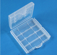 Wholesale new hard plastic case Holder storage Box for AA amp AAA battery