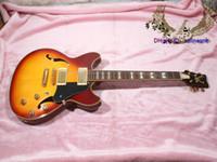 classic guitar - best Newest Honey Burst Hollow Classic Jazz Guitar High Quality