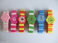 Wholesale CHILDREN WOODEN PLAY WATCH WOOD BRACELET PARTY BAG TOYS