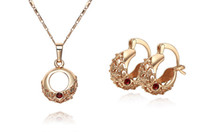 Wholesale lowest price Hot Sell k gold plated Necklace Earring set TS05