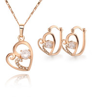 18k gold - lowest price Hot Sell k gold plated Necklace Earring set TS10