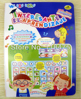 Wholesale ABC Spanish Book Toy Y Pad Series Spanish Learning Book Toy With colour pages