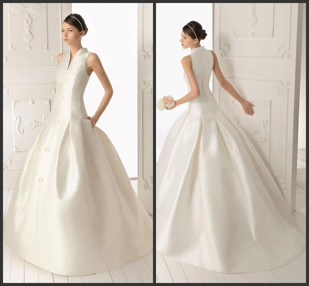 Discount hot sale 2013 fall winter wedding dresses v neck for Winter wedding dresses for sale