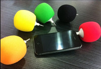 Wholesale 1pcs Cute mini Ball Speaker Portable Ball Audio Docking station Speaker for mm IPhone MP3 MP4