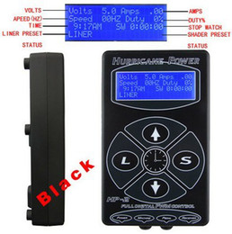 Wholesale pro Black LCD Hurricane Digital DUAL Tattoo Power Supply High Quality