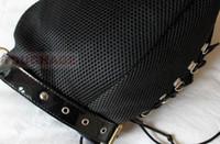 Wholesale Adjustable full face hoods unisex mask bondage nylon total enclosure blackout hood