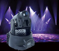 Wholesale 1pcs lighting fast delivery Mini W RGB led moving head light moving head light