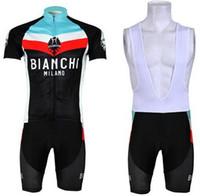 bianchi - 2013 BIANCHI Black Short Sleeve Cycling Jersey Bike Bicycle Wear BIB Short Size XS XL B012