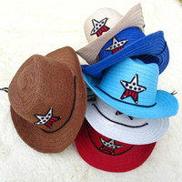 cowboy hats kids - Kids Hats Handmade Grass Braid Cowboy Hat Crochet Hats Colors Baby Hat