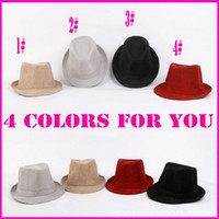 Wholesale 2013 New Arrival Fashion Hats Cheap Fitted Hats Fedora Colors Cloth Hat