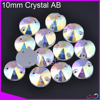 Wholesale 811747 Sew on flatback holes crystal mm Crystal AB Silver base CPAM free Us