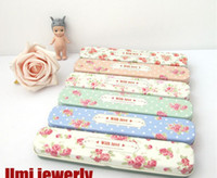 Wholesale Freeshipping New vintage amp rose flowers iron Pencil box Tin pencil case Iron Pencil Case Tin