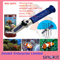 Wholesale Protable aquarium refractometer brine seawater salinity refractomter Blue Grip RHS ATC