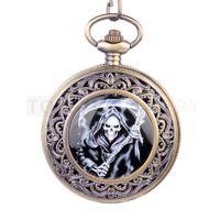 Wholesale Grim Reaper Sons Anarchy Antique Pocket Watch Black Dail LPW134