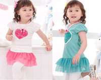Wholesale children s skirt tutu baby girl dress kids wear flower Princess T shirt kids clothing Chil