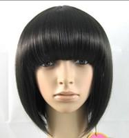 short black wigs - 10pcs black short Bob Hair wig women s synthetic hair lady s wigs option colors