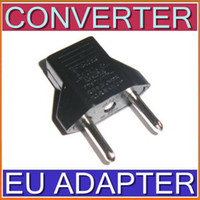 Wholesale Flat to Round AC Power Plug Converter US to EU adapter ZJT