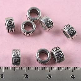 100pcs Tibetan Silver round pattern spacer beads H0778