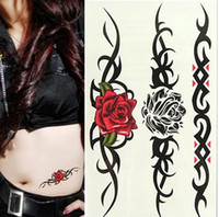Wholesale Waterproof tattoo stickers sexy waist tattoos rose HM361