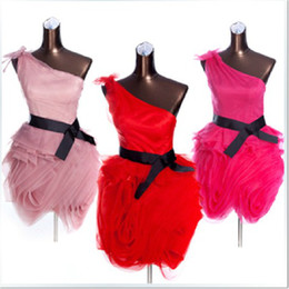 Hot Sale!!!Elegant One-Shoulder Organza Bridesmaid Dresses Wedding Party Dresses