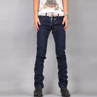 Wholesale 2012 New Style Men s Casual Blue Skinny Washed Jeans Size Free Ship