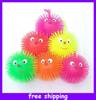 Wholesale LED Flashing Puffer Ball Venting Ball Smile Flare Power Jumping Ball Elastic Ball