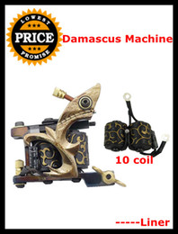 Wholesale Hot Sale Pro PC Damascus Tattoo Machine Gun Liner Wraps Coils for Needle Ink Kit