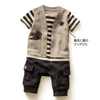 Wholesale new born rompers baby shortall boys one piece romper bodysuits overall t shirts outfits C362