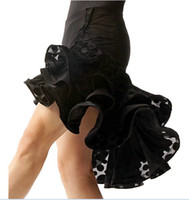 Wholesale Latin salsa Chacha Ballroom Dance dress ruffle leopard skirt dress Black TL018