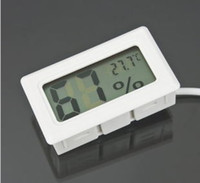 Wholesale Mini Digital LCD Thermometer Humidity Temperature Hygrometer White