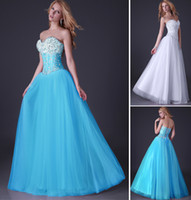 Wholesale Grace Karin New Sequins Corset Bodice Long Tulle Prom Dresses Ball Gown Beaded Party Evening Dress Size US CL3519