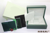 Wholesale high quality Wooden Watchs Boxes Gift Box Crown logo Wooden box with Brochures cards Wooden box
