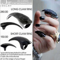 Wholesale fashion ring jewelry new Finger Nail Ring diamond the Enchantress hook catlike nail sets Ring