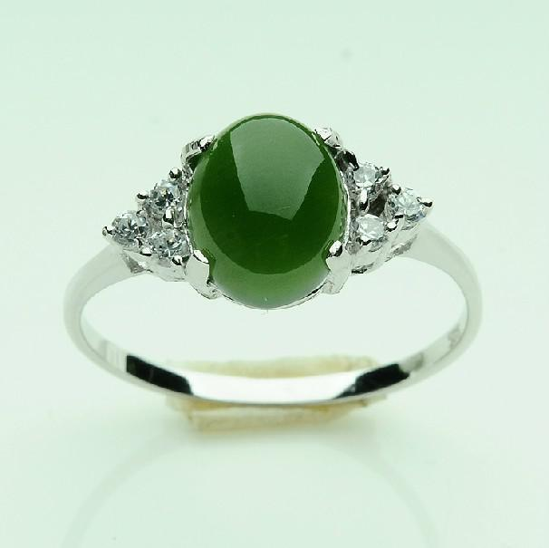 925 silver and nephrite jade rings for men and women ring - Jade Wedding Ring