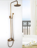 Wholesale brass bathroom shower faucet set bronze color