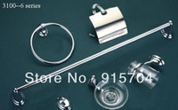 Wholesale metal bathroom accessories set chrome finished zinc and stainless steel