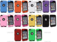 Wholesale Hybrid Rugged Impact Hard PC Silicone Skin Cover Case for Apple iPod Touch GEN